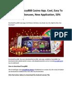 Download Pussy888 Casino App. Cool, Easy To Crack, Many Bonuses, New Application, 50% Bonus.