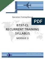 B737-CL Recurrent Syllabus Module 3