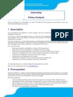 internship Policy Analysis 201808