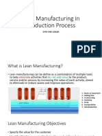 Lean Manufacturing in Production Process