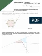 Simulazione Verifica GEOMETRIA 1 Soluzioni