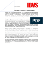 Propuesta de Asamblea Constituyente - IBVS