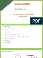 Matrices # 2