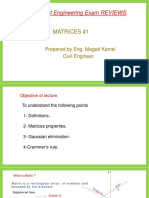 Matrices #1