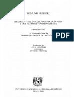 Husserl Edmund - Ideas Relativas a Una Fenomenologia Pura Y Una Filosofia Fenomenologica III