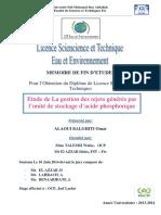 Etude de La gestion des rejets - ALAOUI BALGHITI Omar_1542.pdf