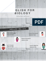 english for biologi