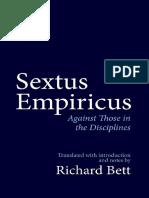 Sextus_Empiricus; Against Those in the Disciplines_Richard_Bett