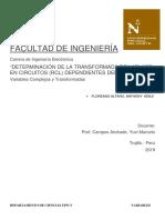 """Determinación de La Transformada de Laplace en Circuitos (Rcl) Dependientes Del Tiempo  """"Determination of the Laplace Transform in Time Dependent Circuits (Rcl)"""""""