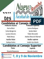 Candidatos Lista 10 Nuevo Rumbo
