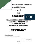Abordarea wheezingului in practica pediatrica a cabinetului medicului de familie