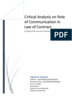 Importance of Communication in Law of Contract