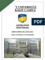 German Booklet Sem 3 amity