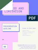 GC-MS PROCESS AND LIMITATION