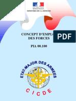 PIA 00-100 Concept d'emploi des forces (n° 4 CICDE du 11 janvier 2010)