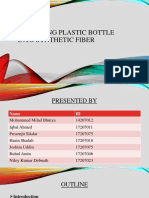 Recycling Plastic Bottle into Synthetic Fiber