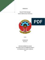 Sejarah Perkembangan Administrasi Di Indonesia