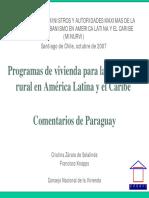 Programas de vivienda para la población rural en América Latina y el Caribe - Comentarios de Paraguay.pdf