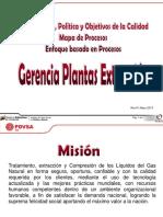 Mapa de Proceso de Las Plantas de Extracción