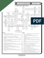 A Midsummer Nights Dream Crossword
