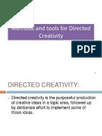 Unit - III directed creativity