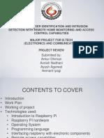 Summer Internship Presentation on Embedded Systems Through Raspberry