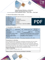 Activities Guide and Evaluation Rubric - Post-task - Final Task