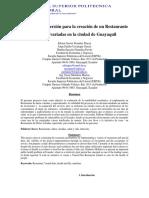 Proyecto de inversión para la creación de un Restaurante de dietas variadas en la ciudad de Guayaquil.pdf