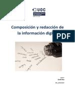 Composición y redacción del informe digita