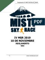 IV Misti Skyrace 2019 Reglamento v1