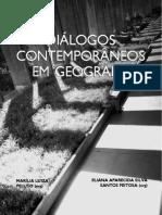 Livro Dialogos Contemporaneos Em Geografia