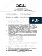 PHY32M2 Solid State Physics Problemsheet 3.Electrical & Magnetic Properties.2018