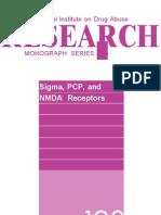 NIDA Monograph 133 Sigma PCP NMDA Receptors