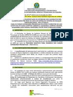 EDITAL nº 277-2014_Manifestação de Interesse_1ª CHAMADA LISTA DE ESPERA_SiSU 2014.2 (Retificado em 23_07_2014).pdf