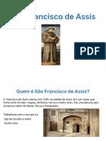 PPT São Francisco de Assis