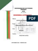 HERRAMIENTAS DE LA INNOVACION POR BOLIVAR LOAYZA