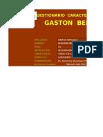 GASTON BERGER - Plantilla de Calificacion