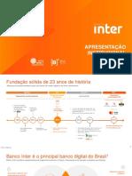 Apresentação Institucional Banco Inter 2T18