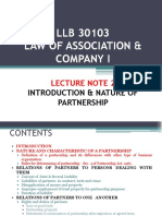 Lecture Note 2 Nature of Partnership (1)