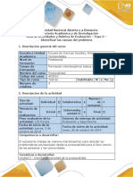 Guía de Actividades y Rúbrica de Evaluación - Fase 3-  Identificar las causas del problema.docx