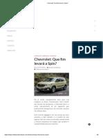 Chevrolet_ Que Fim Levará a Spin