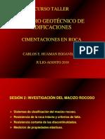 Curso Cimentaciones en Roca Sesion 2 2018 II