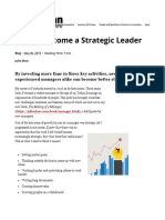 How to Become a Strategic Leader
