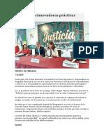 Presentan innovadoras prácticas judiciales