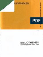 Bibliotheken studentenplannen herfst 1998