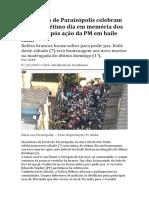 Moradores de Paraisópolis celebram missa de sétimo dia em memória dos 9 mortos após ação da PM em baile funk