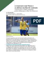 Grêmio Não Renovará Com Vizeu e Libera Todos Atletas Em Fim de Contrato