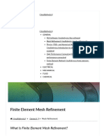 Finite Element Mesh Refinement Definition and Techniques