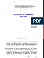 Mecanismos de transmisión neuronal