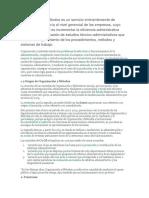 La Función de Organización y Métodos Es Un Servicio Eminentemente de Asistencia y Asesoría Al Nivel Gerencial de Las Empresas